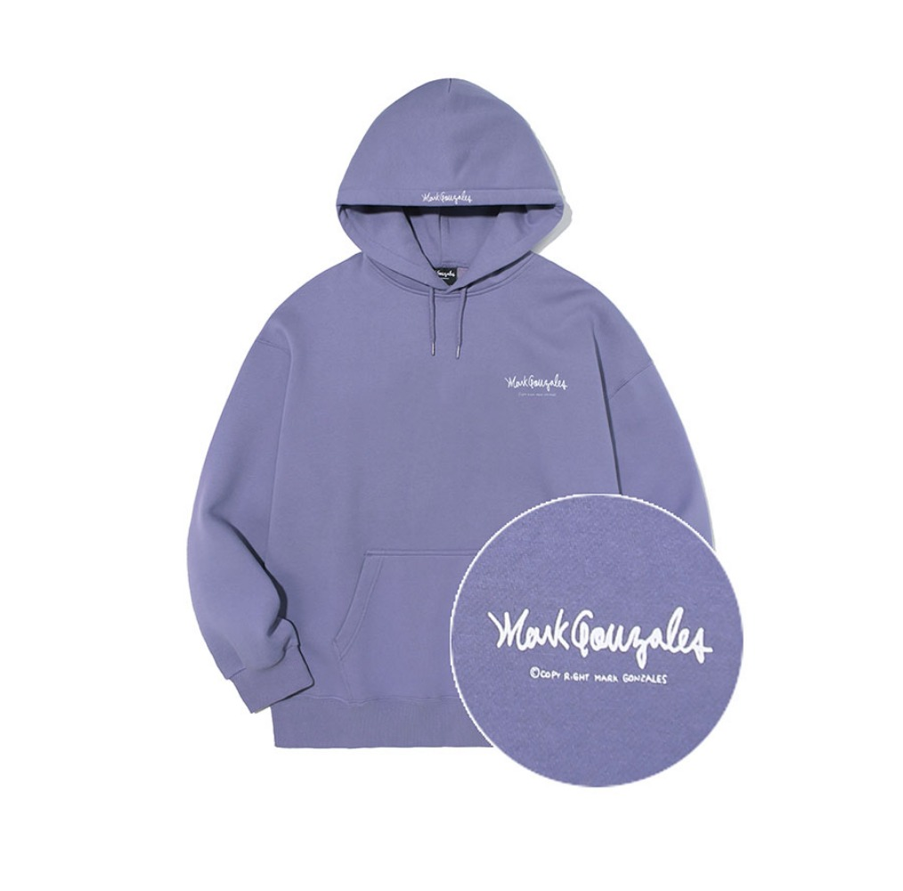M/G SMALL SIGN LOGO HOODIE PURPLE