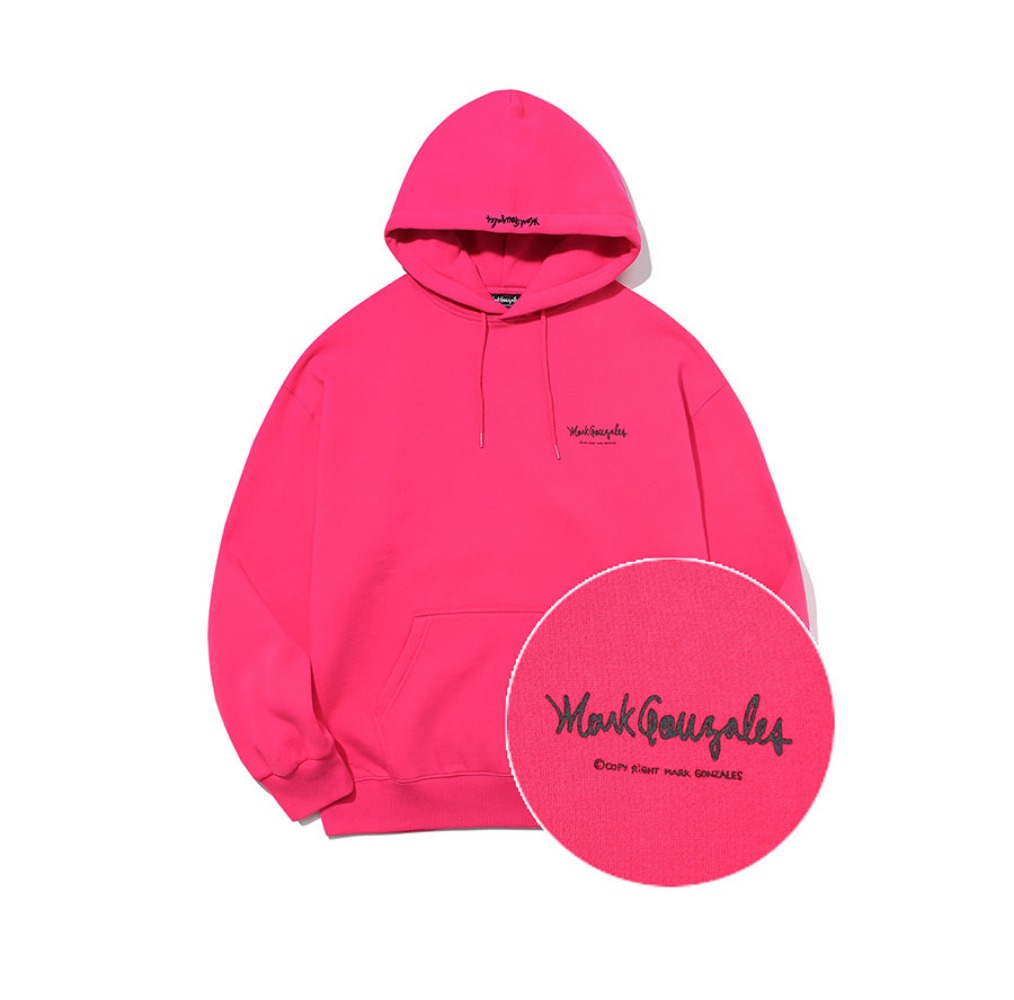 M/G SMALL SIGN LOGO HOODIE HOT PINK